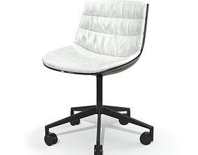 White Office Chair 3D