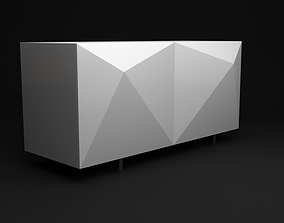 Case Console Origami Table 3D