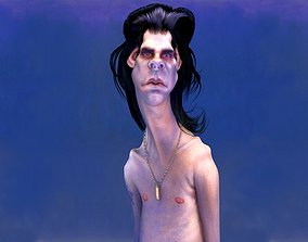 Caricature of Nick Cave 3D model