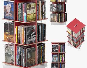 3D Buchstabler Bookcase
