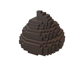 3D asset Pixel Pile of Poo v1 003
