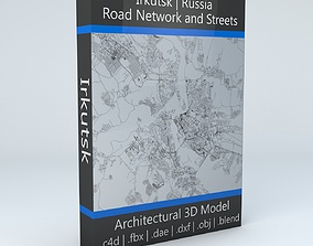 3D Irkutsk Road Network and Streets