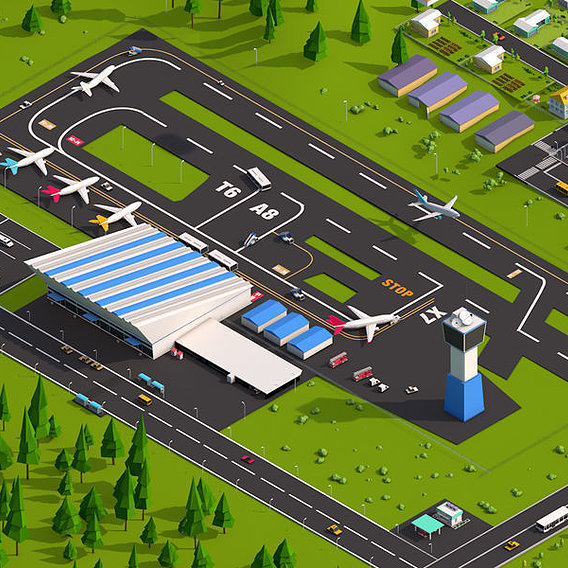 LOWPOLY airport