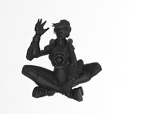 3D printable model Tracer cadet oxton Overwatch