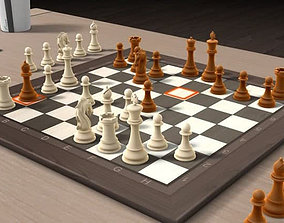 rook CHESS 3D asset low-poly