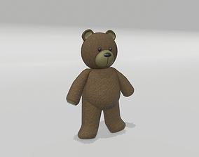 Stuffed Teddy Bear 3D asset