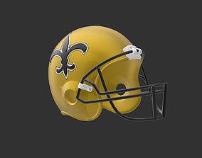 3D print model New Orleans Saints Football Helmet
