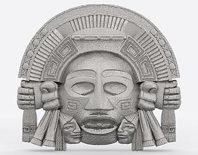 Aztec face Mayan face wall hanging 3D print model