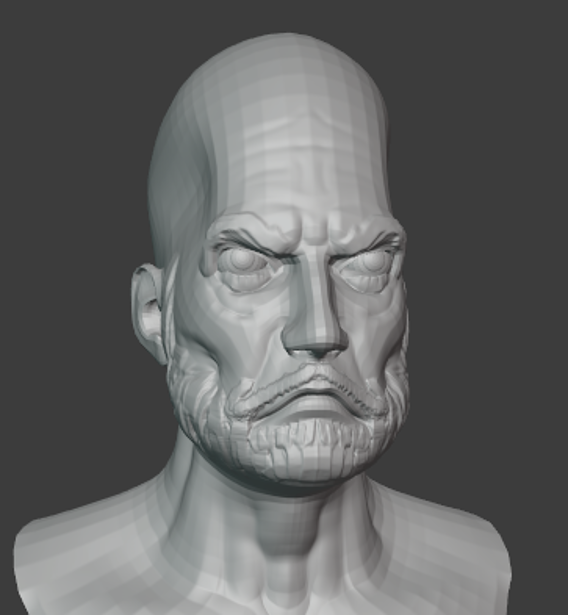Old Man Head