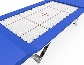 3D model low-poly Trampoline