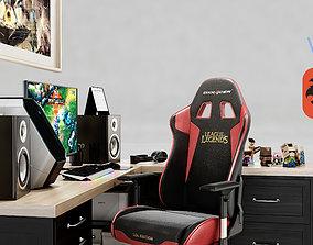 3D Gamer Desk League of Legends
