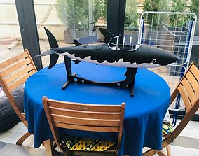 Tintin Submarine 3D printable model underwater