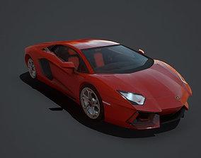 3D asset Lamborghini Aventador Coupe