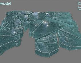 ice set 3D asset game-ready