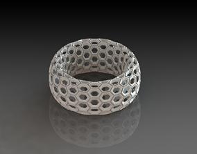 Unique Scifi Honeycomb Toroid 3D Printed