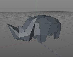 3D printable model rhinoceros