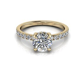 Engagment Jewelry Ring 210 3D print model