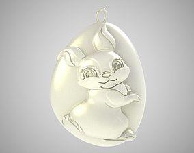 Rock Rabbit Necklace 3D printable model