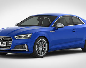 3D model Audi S5 Coupe 2018 detailed interior