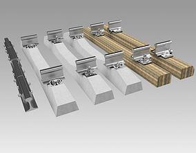 Rail fastening 3D