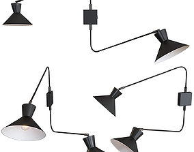 Wall lamp Applique Voltige 2 bras La redoute 3D