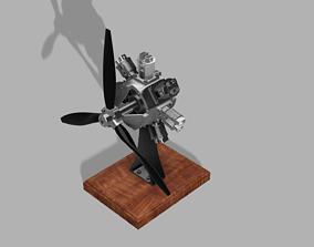 3D print model Radial engine