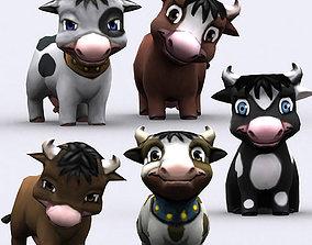 animated 3DRT - Chibii Cow