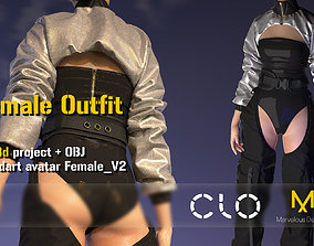 Female outfit Clo3d project with standart avatar FemaleV2
