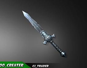 realtime Low-Poly Fantasy Sword 3D Model