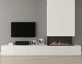 Fireplace With Decor 31 3D model
