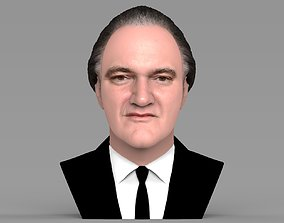 Quentin Tarantino bust ready for full color 3D printing