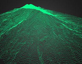 Fuego Volcano Guatemala 3D