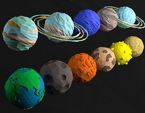 3D model Planet set