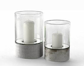 Contemporary Hurricane Candle Holders 3D