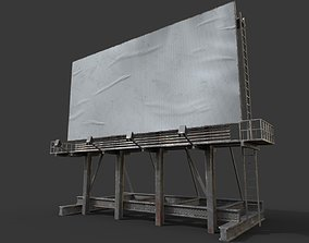 3D asset Rooftop Billboard model