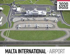 Malta International Airport - MLA 3D model