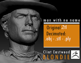 Clint Eastwood young version 3D print model