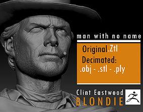 Clint Eastwood young version 3D print model