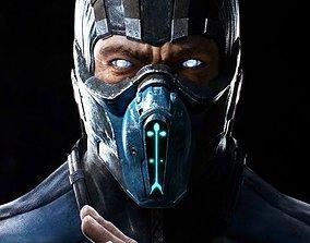 3D print model Mortal Kombat Sub Zero Face Mask
