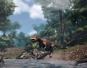 3D asset Gigantosaurus Jurassic Dinosaur