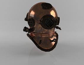 3D model VR / AR ready Diving Helmet
