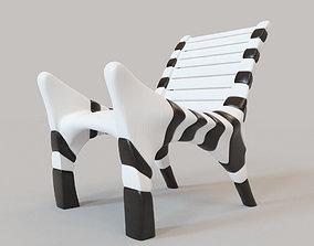 3D Zebra chair