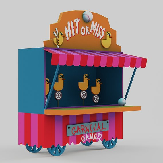 Carnival Game - Game-Ready for Mobile Games