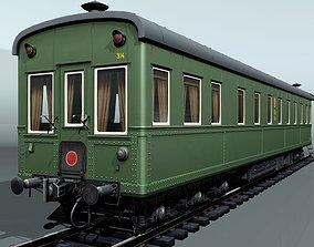 6-axles railcar-salon 3D asset