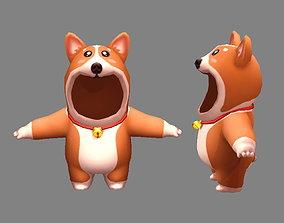 3D model Cartoon puppy costume