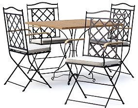Manutti St-Tropez Dining Chair with Firenze 3D asset 1