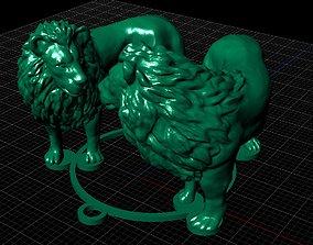 Lion Sculpture 3d print model 3D print model lioness