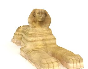 3D asset The Great Sphinx of Egypt Giza Low Poly