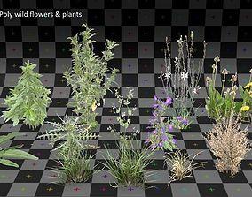 Green Fields - Low Poly models pack 3D asset