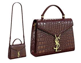 3D model YSL Saint Laurent Cassandra Mini Top Bag Red